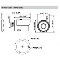 IPCHFW1120S-W Cámara IPC Bullet 1.3Mpx