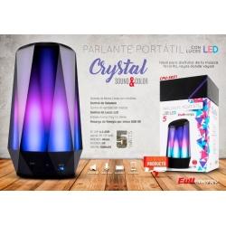 PARLANTE BT PORTÁTIL CRYSTAL (CON LUCES LED / BT / MICRO SD / ULTRA BASS)