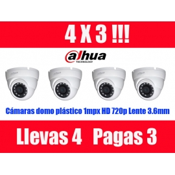 4X3 DOMOS DAHUA HD 1MPX