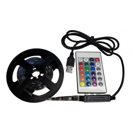 Tira de LED RGB 5050 5V DC (1 Metro)