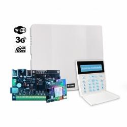 Panel de alarma con WiFi, teclado LCDRF y Comunicador 3G
