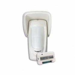 Detector inalámbrico doble infrarrojo para exteriores.