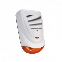 Sirena para exterior piezoeléctrica con flash