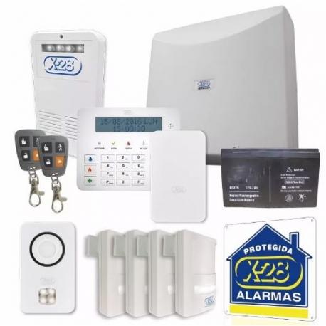 KIT Alarma X-28 8 zonas Celular/Luz de Emerg (N°2)