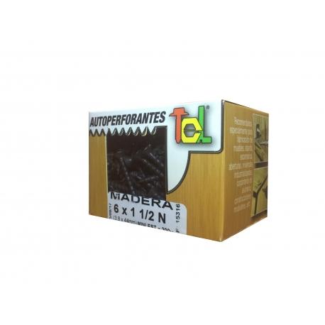 Tornillo Autoperforante 6x1 1/2 TEL x 200 unid
