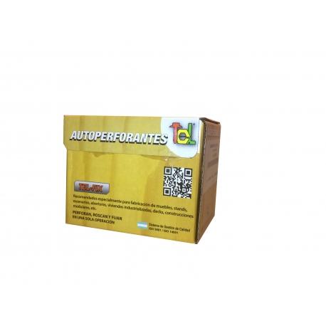 Tornillo autoperforante 6x1 1/2 TEL 500 unid