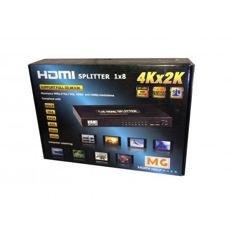 Splitter HDMI 1X8 FULL HD / 4K